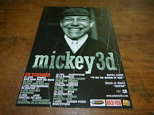 MICKEY 3D - Publicité de magazine / Advert DATES TOURNEE - TU VAS PAS !!!!!!!!!!