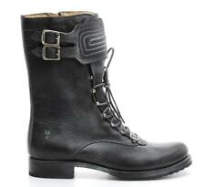 Frye Black Distressed Leather Veronica Moto Cross Boots Size 11 B NEW