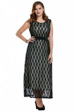 """""""GRACIE"""" STUNNING LADIES PLUS SIZE 20-22 BLACK NUDE LACE COCKTAIL DRESS FORMAL"""