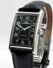 Collectable DANIEL JEANRICHARD RECTANGULAR BLACK AUTOMATIC watch Art-deco