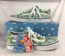 NIB Old Skool Disney Toy Story Vans Andy's Toys Green White Tennis Skate Shoes 7