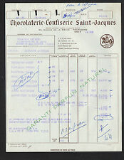 """TOURCOING (59) CHOCOLATERIE CONFISERIE / CHOCOLAT """"SAINT-JACQUES"""" en 1959"""