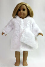 "White Fur Coat Jacket & Muff made for 18"" American Girl Doll Clothes"