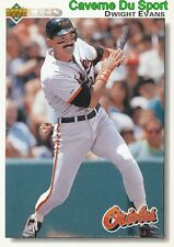 248 DWIGHT EVANS BALTIMORE ORIOLES BASEBALL CARD UPPER DECK 1992