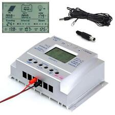 MPPT 80A 12V/24V Solar Panel Controller Regulator Charge + Extension Cable US DH