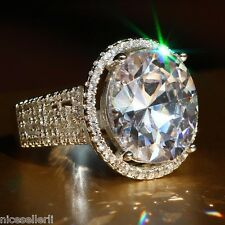 NO.542 White Sapphire Birthstone 925 Silver Filled Wedding Bridal Ring Size 8