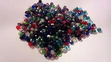 250 Mixed Glass Swarovski Crystal Loose Bead 4x6mm Jewellery Making UK SELLER