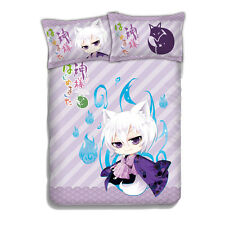 Anime Kamisama Love Kamisama Kiss Tomoe Bed Sheet Coverlet + 2pcs pillow case
