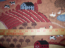 """2.01  yd; 44/45"""" Wide;Country Living-Farm House, Barn, Pasture, Garden, & Church"""