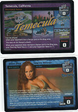 WWE WWF Raw Deal CCG two Christy Hemme ultra-rare FOILS diva TNA knockout