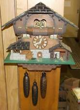 A.Schneider German Cuckoo Clock Black Forest Chalet With Dancers Handmade Works