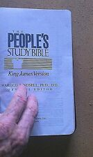 The People's Study Bible- King James - Black Deluxe Bonded Leather Brand New!!