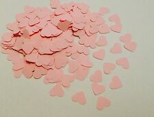 Pink heart baby shower confetti - pastel - baby girl - party table decorations