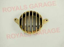 royal bikes CLASSIC C5 brass tail light grill brass round harley style AUTO EDH