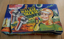 Vintage Merit Space Patrol Walkie Talkie Toy Set 1955 Rare Boxed Dan Dare Era