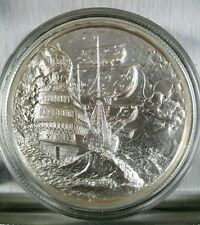 Elemetal 2 Oz Privateer High Relief Silver Round .999 Fine Pirate ship 1st one.