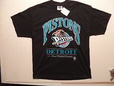vtg 90s DETROIT PISTONS TEAL t shirt sz XL NEW NWT made in USA