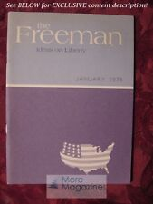 The FREEMAN January 1976 Clarence B Carson Jean Hockman Merryle Stanley Rukeyser
