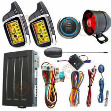 Ignition Start Stop Button Auto Car Alarm System Remote Keyless Entry Door Lock