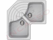 Lavello Elleci Master Corner LSMCOR11 angolo incasso cucina Sintek 11 Bianco