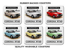 68' 69' 70'  TOYOTA RT40  CORONA AMI 1500    SET OF  6   RUBBER DRINK  COASTERS