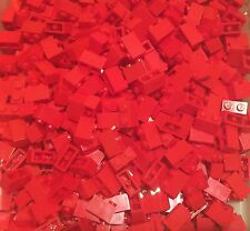 Lego X100 Pieces New Bulk Red 1x2 Brick / Standard Building Bricks Lot