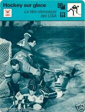 FICHE CARD: Team Equipe USA Championne champion Olympic Games  ICE HOCKEY 70s