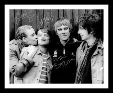 STONE ROSES AUTOGRAPHED SIGNED & FRAMED PP POSTER PHOTO