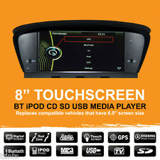 "BMW E60 E61 E63 E64 5ER (03-10) 8"" Car GPS Sat Nav iPod BT MP3 Stereo - 6.5vr"
