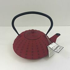 New! Red & Black Cast Iron Teapot & Infuser by Well Equipped Kitchen