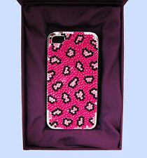 JIMMY CRYSTAL NY iPhone 4 & 4S PINK LEOPARD Cover Case Msrp $175.00