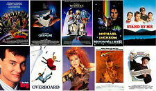 Totally 80's Retro Party Posters Gremlins Michael Jackson Indiana Jones BIG