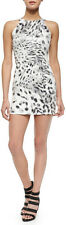 Parker Cumulus Gray Animal Print Sequin Hayes S/L Dress $297 NWT S
