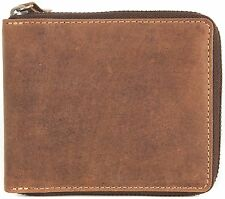 VISCONTI LUXURY OIL TAN LEATHER ZIP AROUND GENTS WALLET 702 NEW COLOUR