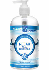 CleanStream Relax Light Desensitizing Anal Play Lube Personal Lubricant 17.5 oz