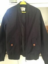 "RIVER ISLAND MENS DARK GREY BOMBER JACKET SMALL 36"" CHEST"