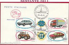 ITALIA FDC CAVALLINO COSTRUZIONI AUTOMOBILISTICHE ITALIANE 1984 TORINO Y533