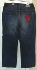 Rocawear Mens Jeans Distressed Size 42 Classic Fit Denim Embroidered Urban