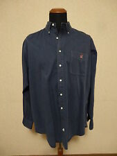 Polo Ralph Lauren Bear Blu Pocket Shirt - XL Camicia Blue Botton Down Blaire