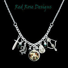 ~THE WALKING DEAD THEMED STATEMENT CHARM NECKLACE~