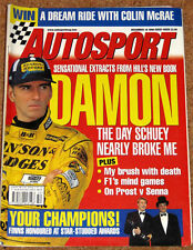 Autosport 10/12/98* TOYOTA COROLLA WRC CAR FEATURE - AUTOSPORT AWARDS BUTTON