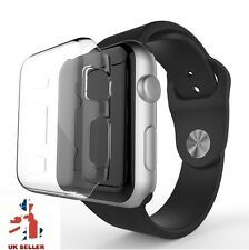 2PK Cystal Clear Slim Thin Hard Snap On Case Cover For Apple Watch Series 1 42MM
