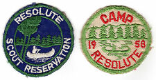 Boy Scout Camp Resolute 1958 & 1959 or 1960? patches Algonquin Council, MA