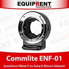 Commlite CoMix ENF-01 Autofocus Adapter für Nikon F zu Sony E-Mount (EQH85)
