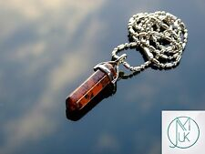 Mahogany Obsidian Crystal Point Pendant Natural Gemstone Necklace Healing Stone