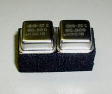 2 Stück IQXO-22C 80.000 MHz Metal Oscillator Quarz Crystal Xtal (M8736)