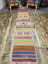 "Vintage Turkish Runner Rug,Carpet Runner 22,8""x118,1"" Hallway Rug,Corridor Kilim"