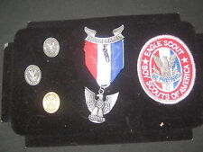 Eagle Scout Stange 7 Medal with 2 Mom pins and a Mentor Pin, & Patch        eb10