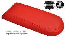 RED GENUINE LEATHER ARMREST LID COVER FOR VW GOLF MK4 JETTA GTI 1998-2005