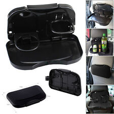 Folding Auto Car Back Seat Table Drink Cup Tray Food Holder Stand Desk NEW UK
